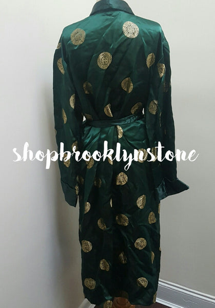 Emerald Green & Gold Robe -SALE!!!
