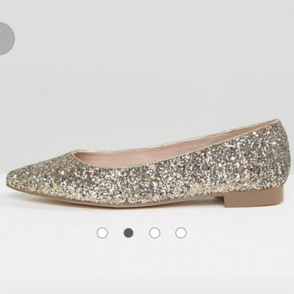 ASOS LACEY Wide Fit Pointed Ballet Flats - SALE!!