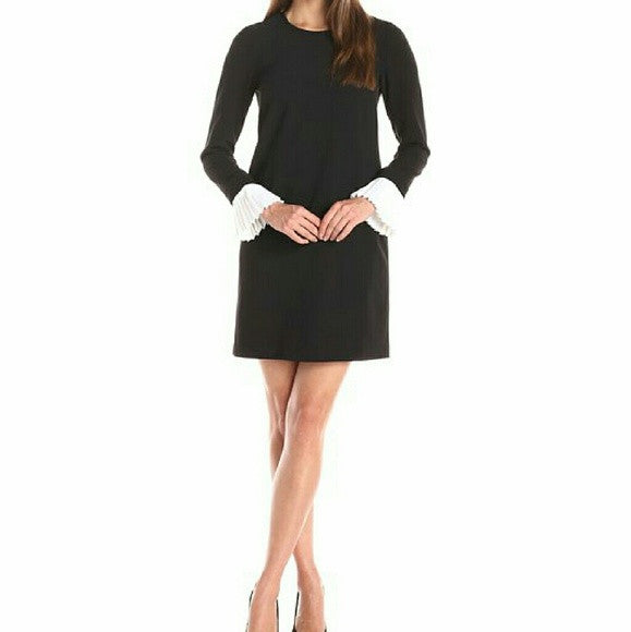 Long Sleeve Pleated Cuff Dress-SOLD!!