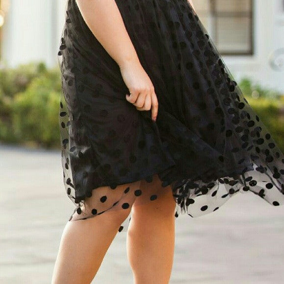 Black Midi Tulle Skirt - SALE!