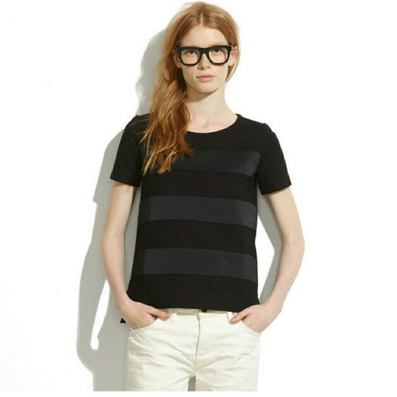 Madewell Satin Striped Tee-SALE!!