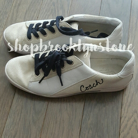 "Coach ""Malli"" Leather & Suede Sneakers - SALE"