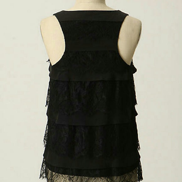 ANTHROPOLOGIE GEMMA SILK AND LACE TOP - SALE