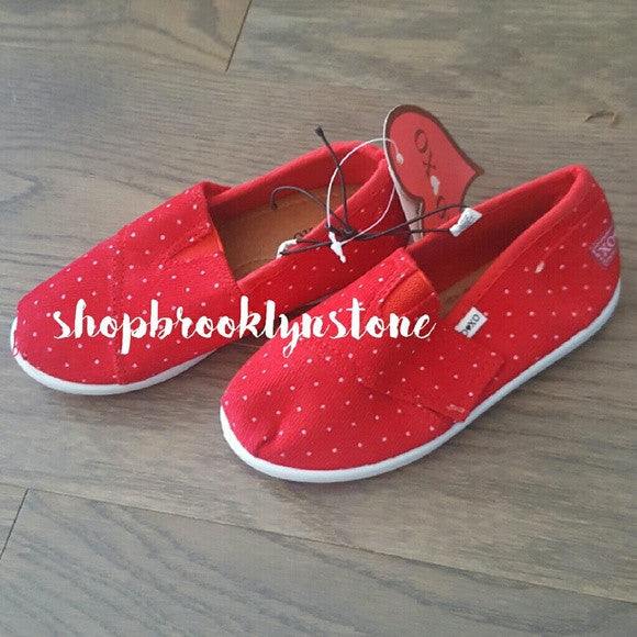 XOXO Girl's Red Polka Dot Slip Ons-SALE!!