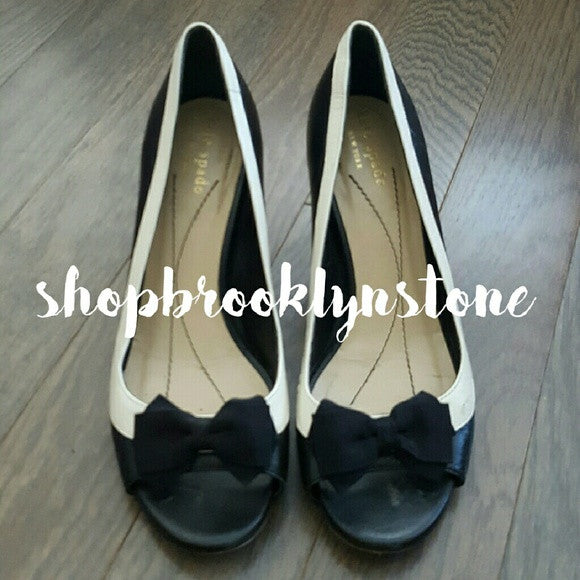 Kate Spade Leather Peeptoe Pumps - SALE!