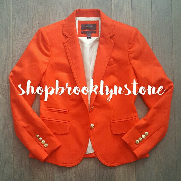 J. Crew Orange Schoolboy Blazer-SOLD!!