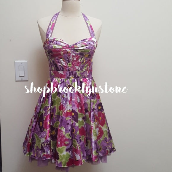 Aqua Collection Floral Halter Dress - SALE!!!