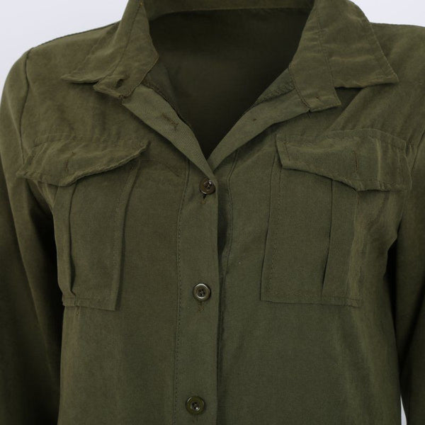 Long Sleeve Olive Green Jumpsuit-SOLD!!!