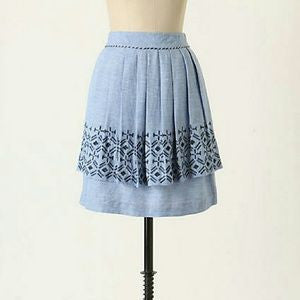 "Anthropologie ""Alpine Dream"" Chambray Skirt -SALE!!"