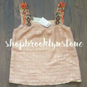 "Anthropologie ""Sunlight Hours"" Tank-SALE!!"