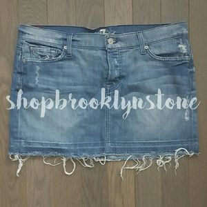 7 For All Mankind Denim Cutoff Skirt-SALE!!