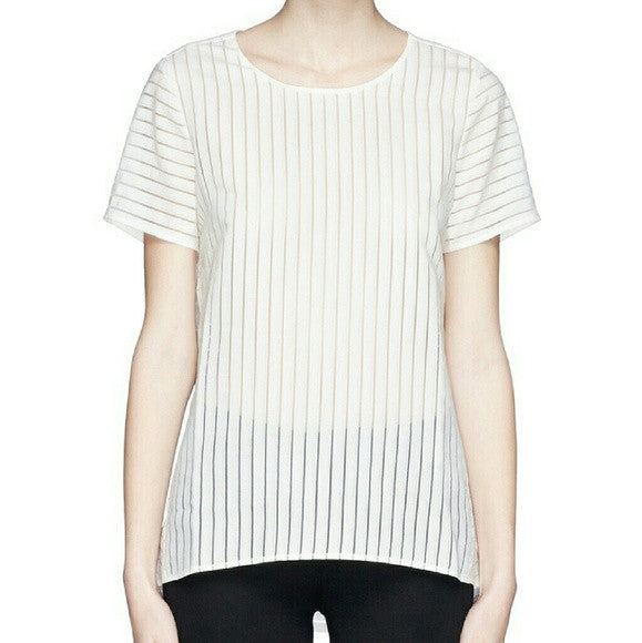 J Crew Shadow Stripe Top-SALE!