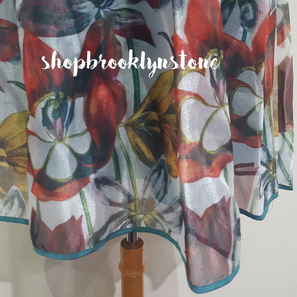 Floral Silk Blend Dress - SALE!!!