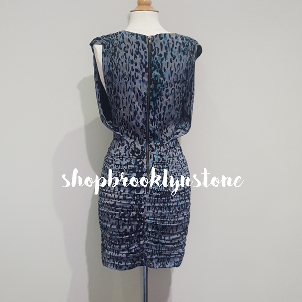 Grey Silk Print Print Dress - SALE!!