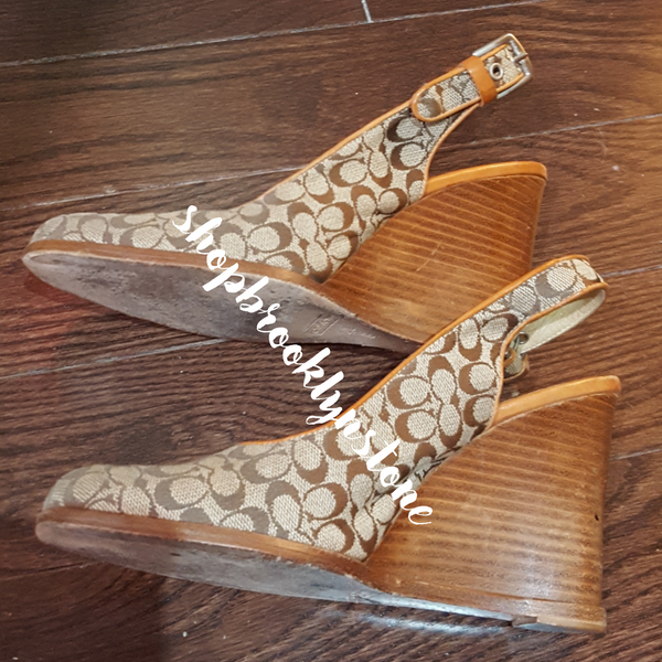 Coach Sabrina Monogram Wedge Shoes - SALE!!