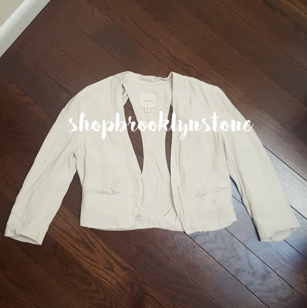 SILENCE & NOISE CROP CUT OUT BLAZER - SALE
