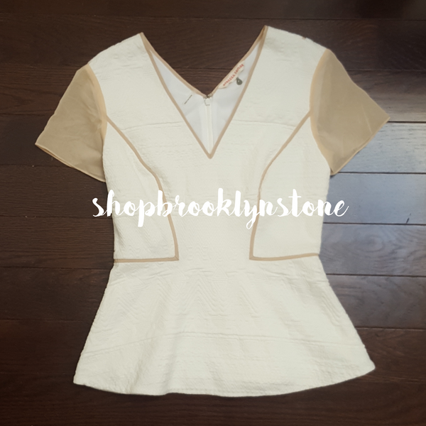 Rebecca Taylor Cut Out Back Peplum Top - SOLD!!