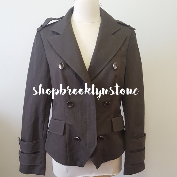 MILITARY INSPIRED BUTTON UP JACKET - SALE