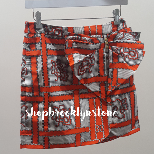 Anthropologie Orange Print Skirt - SALE!!