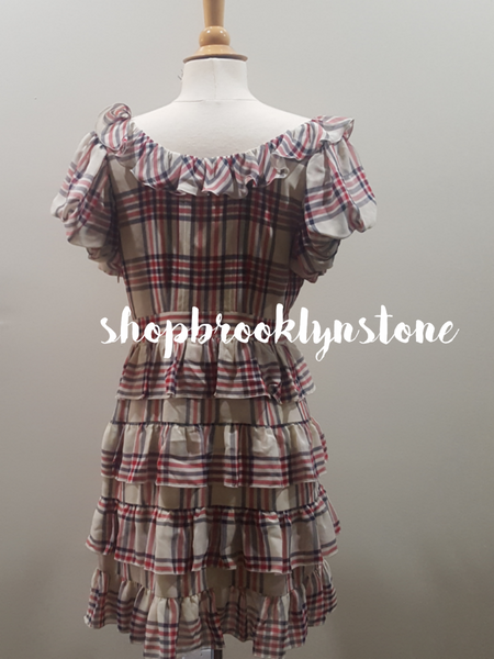 Silk Plaid Juicy Couture Ruffle Dress - SALE!!