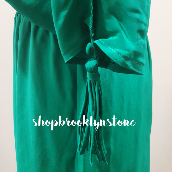 SILK SLIT SLEEVE DROP WAIST DRESS - SALE