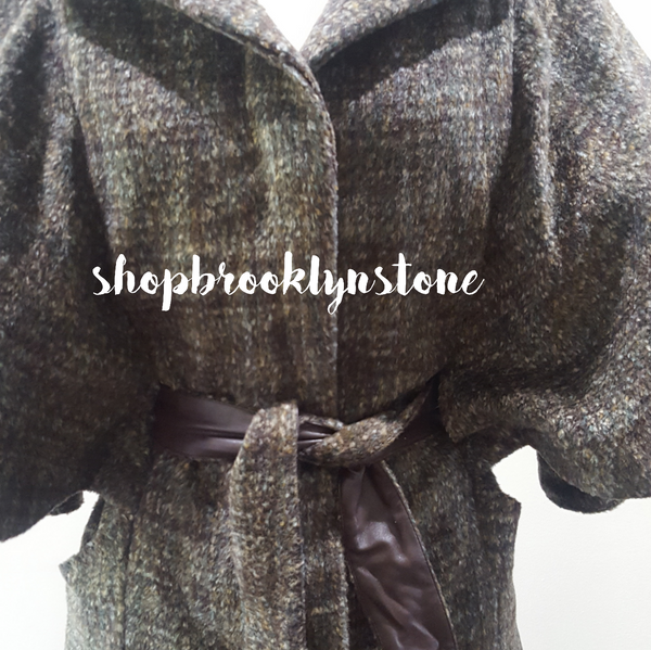 Brown Belted Cape - SALE!!