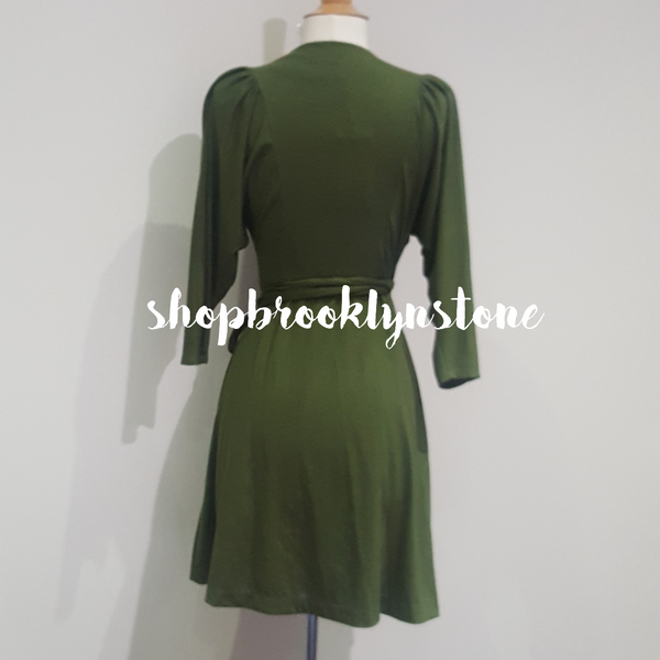Olive Wrap Dress - SALE!!