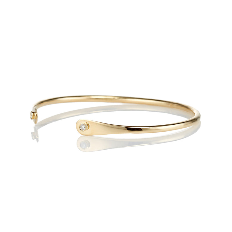 Diamond Flatend 18kt Gold Bracelet - Livewell Designs - 2