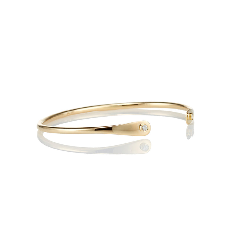 Diamond Flatend 18kt Gold Bracelet - Livewell Designs - 4