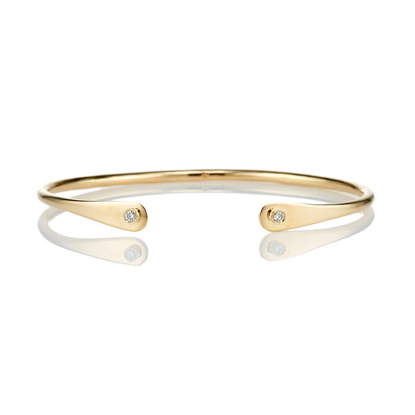 Diamond Flatend 18kt Gold Bracelet - Livewell Designs - 1