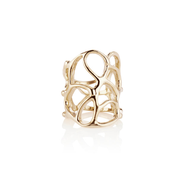 Gold Anguilla Ring