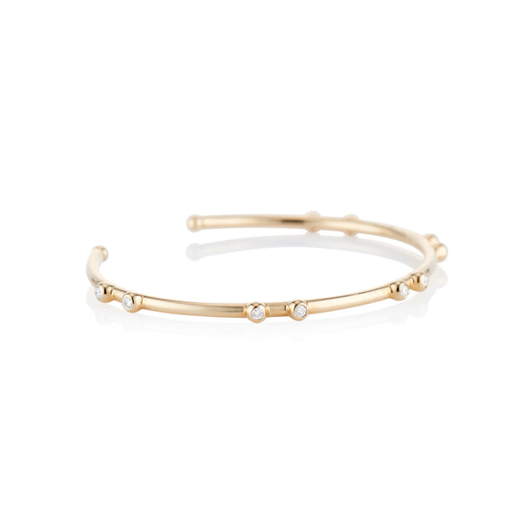 Gold Orbit Diamond Cuff