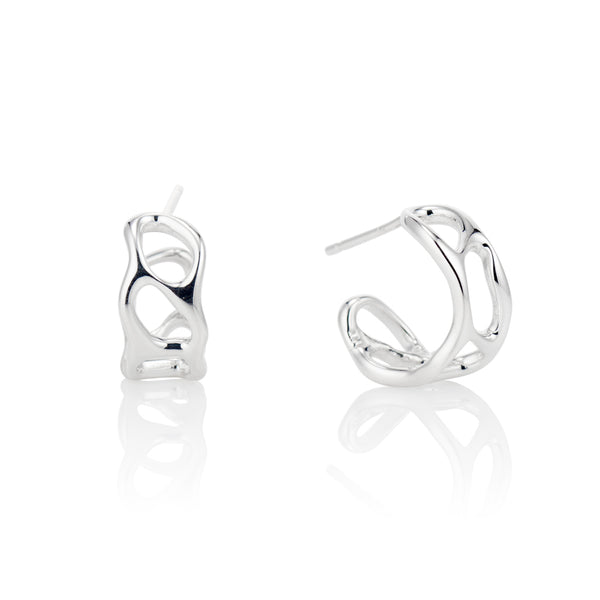 Bright White Anguilla Hoop Earrings