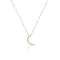 Tiny Gold Moon Necklace