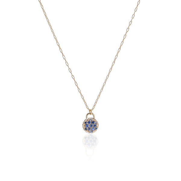 Montana Sapphire Pave Necklace