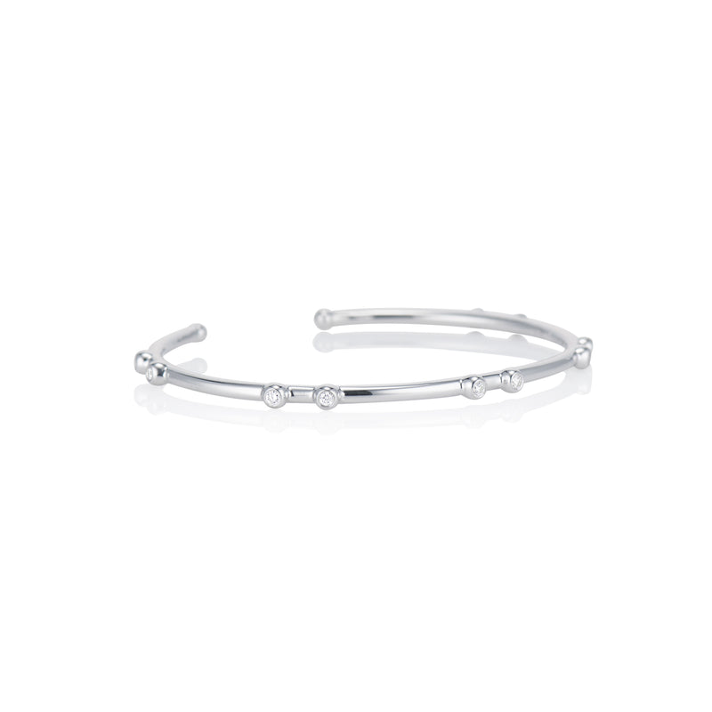Bright White Orbit Cuff