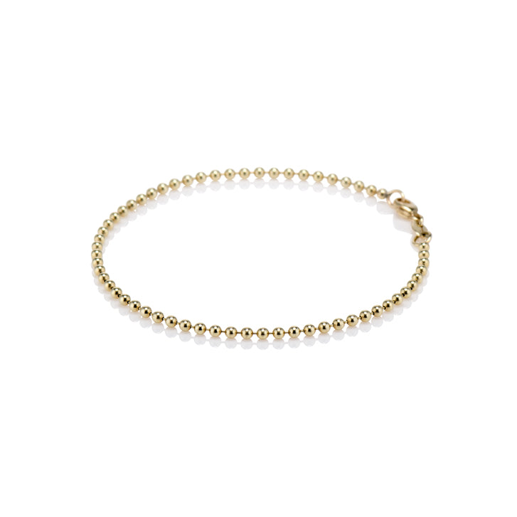 Livewell Gold Ball Chain Bracelet