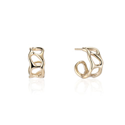 Gold Anguilla Hoop Earrings