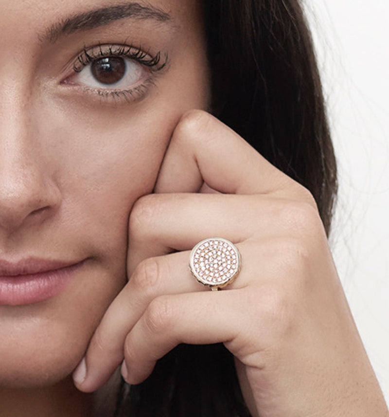 Pave Nailhead Ring