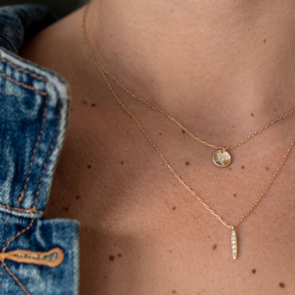 Gold Pea Necklace
