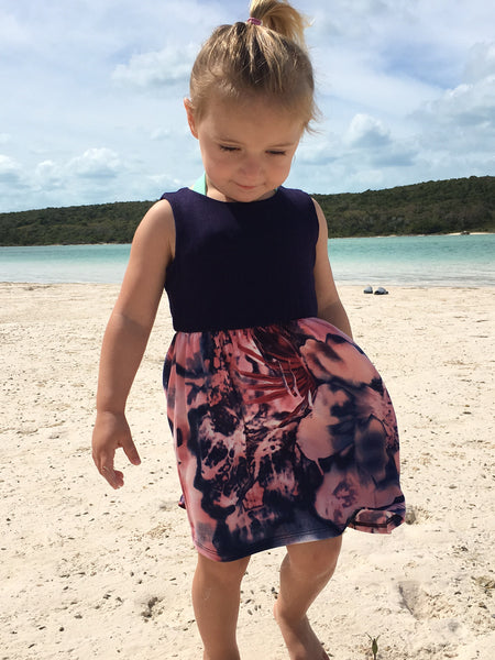 Girls Watercolor Dress