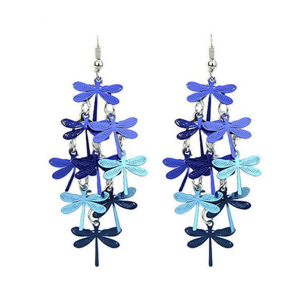 Dragonfly Bohemian Dangle Drop Earrings