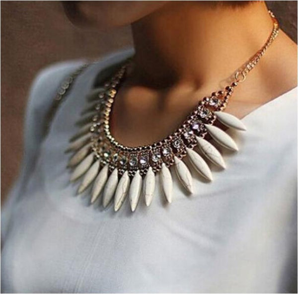 Chain Choker Chunky Statement Bib Necklace