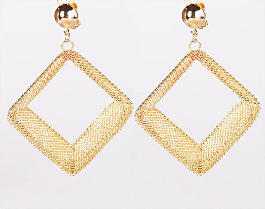 Gold hollow Out Statement Earrings Sacred Geometry