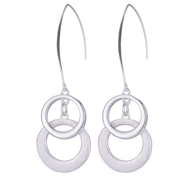 Hollow Circle Drop Earrings