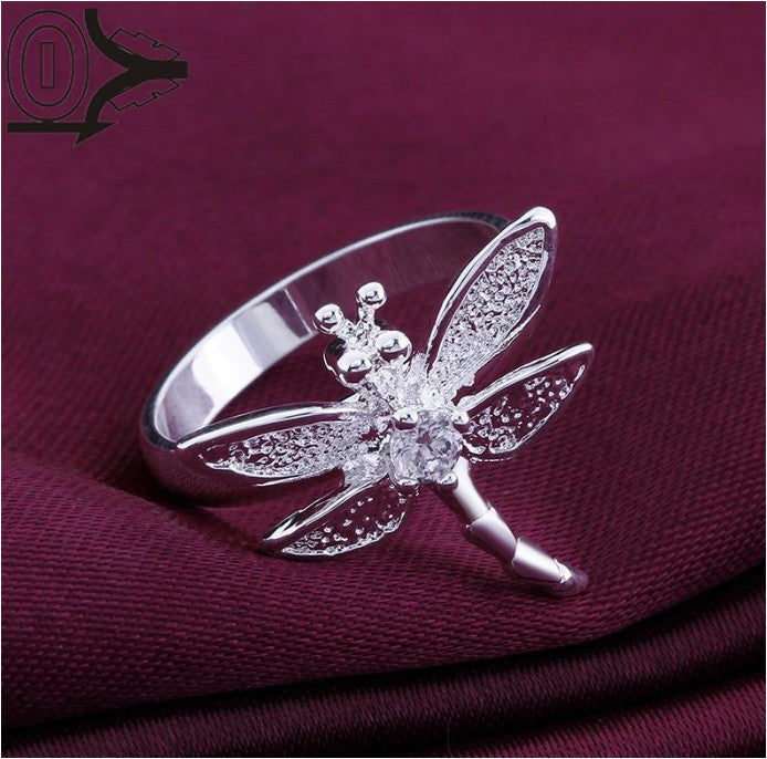Crystal Zircon Dragonfly Rings
