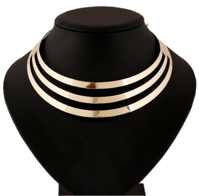 Luxury Choker Collar Necklace Style Fashion Women Multilayer