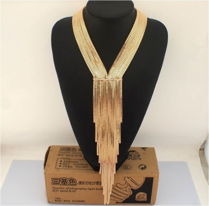 Boho Women Multilayers Snake Chain Long Necklaces