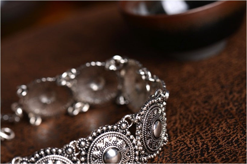 Ethnic Bohemian Silver Plated Neck Choker/Necklace