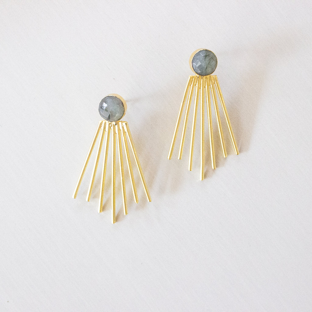 Becca Earrings | Labradorite